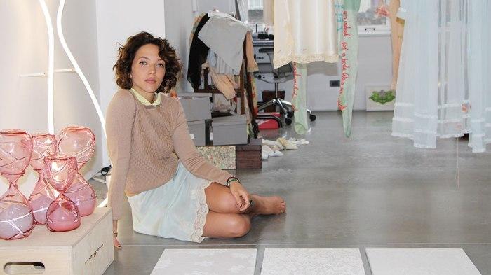Artist Zöe Buckman explores birth & stitches B.I.G ontolingerie
