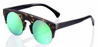 Shanghai Tang Dark Tortoiseshell Mirror Sunglasses