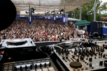 Space's car park becomes a stage during the opening and closing parties